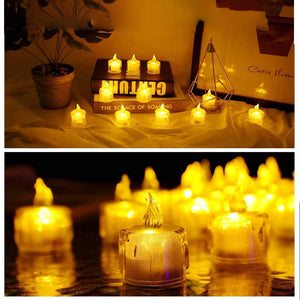 White Electronic Candle Light LED for Halloween Party Decoration