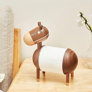 Creative Little Wooden Donkey Tissue Holder