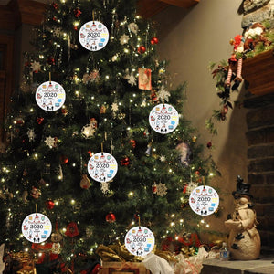 2020 Christmas Pendant Xmas Tree Ornaments Wooden Hanging Decoration Souvenir Gift for Remember