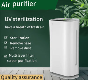 Auto Air Purifier for Bedroom Smoke Dust Pollen HEPA Filter Office Cleaner