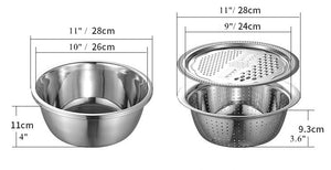 3 in 1 Multifunctional stainless steel basin