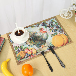 4/6 Pcs Halloween PVC Heat Insulation Tableware Table Mats Placemats