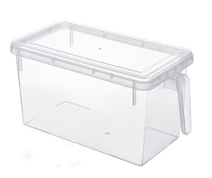 Fridge Storage Containers Produce Saver, 4 Pack x 5L Stackable Refrigerator Organizer Keeper with Handle To Keep Fresh for Produce, Food,Fruits, Vegetables, Meat and Fish,Clear