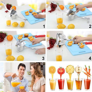 Manual Fruit Juicer  Squeezer Aluminium Alloy Hand Squeezer  with 10 Filter bags 1 Fruit Clip