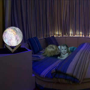 3D Moon Lamp Kids Night Light Galaxy Lamp 16 Colors LED Light with Rechargeable Battery Touch & Remote Control as Birthday Gift for Boys/Girls/Baby