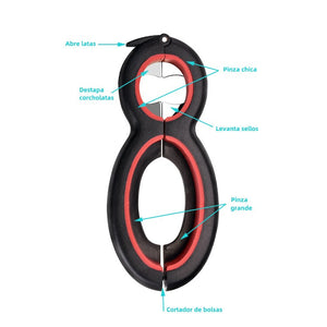 6 in 1 Bottle Opener Jar Opener for Party Multifunctional Kitchen Tools (Open Six Types of lids)