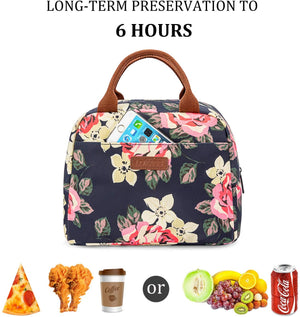 Lunch Bag for Student Tote Bag Insulated Lunch Box Water-resistant Thermal Lunch Bag Soft Liner Lunch Bags