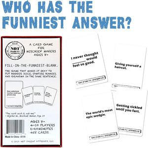 A Fun Card Game for Kids Tweens Teens Families and Mischief Makers - The Original Hilarious Family Party Game