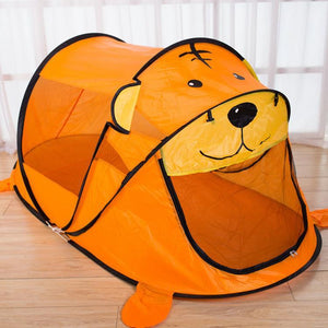 Tiger Bear Tent Play House Outdoor Mosquito Tent for Kids