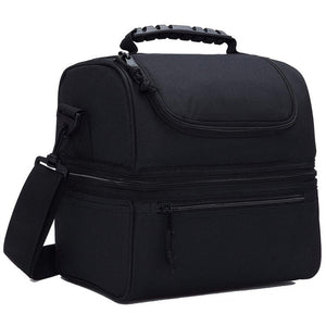 Compartment Lunch Bag for Men Women Leakproof Insulated Cooler Bag for Work and School