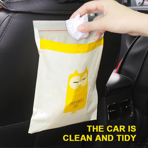Adhesive Foldable Car Trash Bag Cute One-time Rubbish Bags for Cars