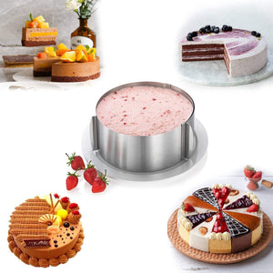 Adjustable Cake Mousse Mould  6 to12 Inch Cake Mold Ring Baking Tools Stainless Steel