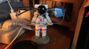 Astronaut Eyeglass Holder Display Stand Office Home Desktop Decoration