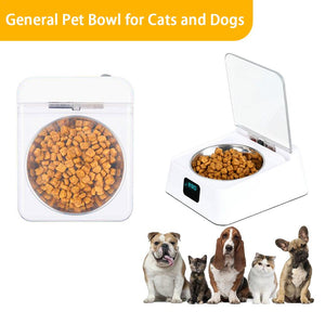 Automatic Pet Feeder Bowl Infrared Sensor Auto Open Cover Intelligent Feeder Anti-mouse Moisture-proof Dog Cat Food Dispenser