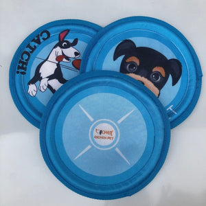 Canvas Frisbee Pet Molar Toy Outdoor Interactive Training Play Throwing Disc Cat Dog Supplies