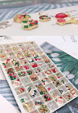 Christmas Nail 3D Metal Alloy Charms Art Decorations DIY 3D Nail Rhinestones Accessories Jewelry Tools