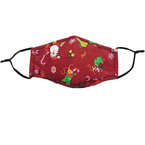 Christmas Santa Claus Face Cover Reusable Washable Face Cover 2 Pcs
