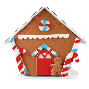 Christmas Village Surprise Collection with Dolls Gingerbread House Tabletop Dollhouse Miniature House