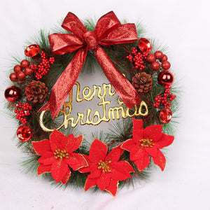 Christmas Wreath Xmas Festival Door Wall Hanging Garland Ornament Home Decor