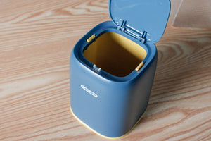 Desktop Mini Trash Can with Press Top Lid for Home Office
