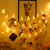 Dormitory Decoration Photo Clip String Star Lights Decor Lights for Hanging Photos, Cards and Artwork (10ft,Warm White/Colorful)