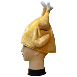 Drumstick hat Thanksgiving Turkey hat Funny Holiday Decoration Warm Hat for Adult