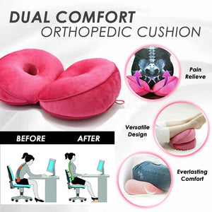 Dual Comfortable Cushion Lifting Hips Up Seat Cushion Office Sports Fatigue Relief Cushion