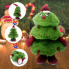 Electric Singing Christmas Flannelette Holiday Doll Toys Singing And Dancing Christmas Tree Plush Toys for Kids