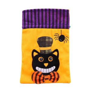 Halloween Candy Fabric Portable Bag Trick Treat Gift Bags Party Decoration 4 Pcs