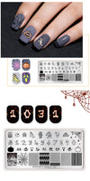 Halloween Rectangle Stamp Plates 12*6cm Nail Art Image Stamping Template Celebration