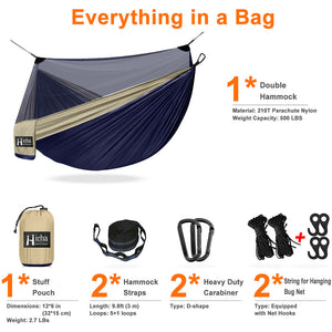Hanging Tent With External Pocket And Net For 2 Adults Backyard Outdoor And Indoor Tree Hammock Portable Travel Hiking Camping Sky Bed