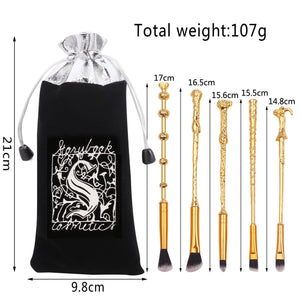 Harry Potter Wand Makeup Brush Set