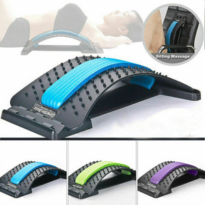 Height Adjustable Magic Back Stretcher Lumbar Pain Acupuncture Back Massager Posture Relief Spine Corrector Tensioner Orthosis