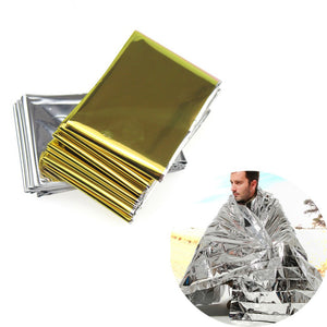 Hypothermia rescue first aid kit camp keep foil mylar lifesave warm heat bushcraft outdoor thermal dry emergent blanket survive