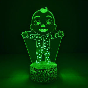 Cocomelon JJ 3D LED Colorful Night Light For Kids Gift