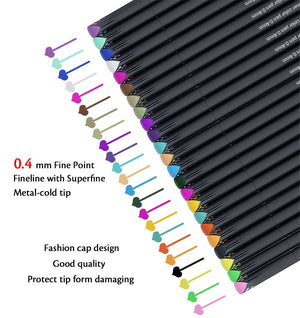 Journal Planner Pens Colored Pens Fine Point Markers 24 colors