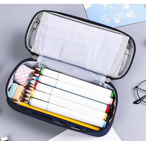 Large Capacity Pencil Case Multifunctional Stationery Bag With Writing Board for Students