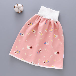 Leakproof High-Waisted Diaper Skirt With Abdominal Protection