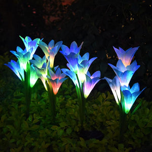Lily Solar Light Outdoor LED Lights for Garden Patio Lawn