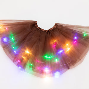 Magic Light Princess LED Dancing Skirt Luminous Christmas Party Stage Tulle Ballet Girl