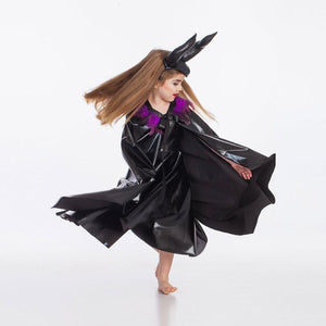 Maleficent Witch Black Costume Halloween Cos for Kids