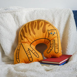 Meow Cat Shaped Pillow Throw Cushion for Bedroom Parlor Sofa Decoration Holiday Gift