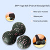 Fascia Massage Ball Lacrosse Ball for Fitness Yoga Myofascial Release Equipment Shoulder Back Legs Foot Massage Roller(Peanut Style)