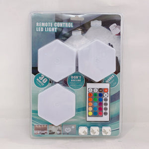Night Light Touch Wall Lamp Remote Control Led Light RGB Hexagon Quantum Decoration Light Set