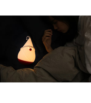 Christmas Snowman Night Light Portable Rechargeable Silicone Lamp for Kids