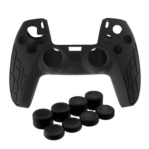 PS5 Gamepad Silicone Non-slip Protective Cover with 8 Pcs Thicken Rocker Cap