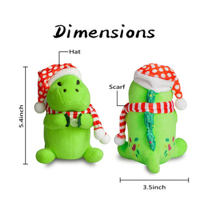 Pickle Dinosaur Christmas Ornaments 6 inch Collectable Figurines 2020 Christmas Decoration Ornament Pickle Dinosaur Santa Plush Toy Christmas Idea