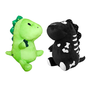 Pickle the Dinosaur Skeleton Plush Toy Black Skeleton Plushie Gifts for Halloween