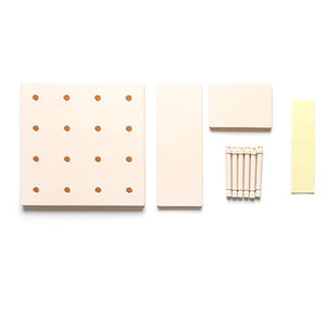 Plastic Peg Board Wall-mounted Storage Rack For Living Room Kitchen Bedroom Bathroom