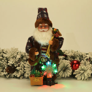 Santa Claus Electric Toy Action Figurine Christmas Ornament Decoration Gifts